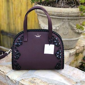NWT kate spade embellished large Reiley handbag